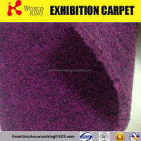 Polyester needle punch velour carpet for wedding,cosino,show,car,hotel
