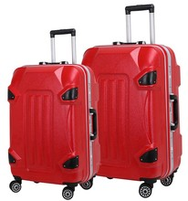 China Factory Colorful Pure PC Luggage Bag Four Wheel Strong Trolley Luggage Bag Suitcase Carry on Luggage Bag