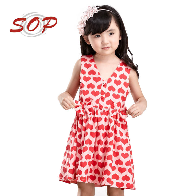 SOP New Arrival Kids Casual Clothes Cotton Dresses For Girls Of 10 Years Old