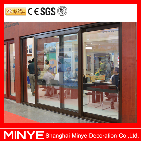 China factory lowes exterior wood doors/Modern used exterior doors prices,used sliding glass doors prices