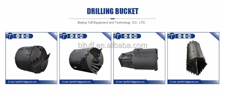 Rotary rig drilling tools open type body drilling bucket
