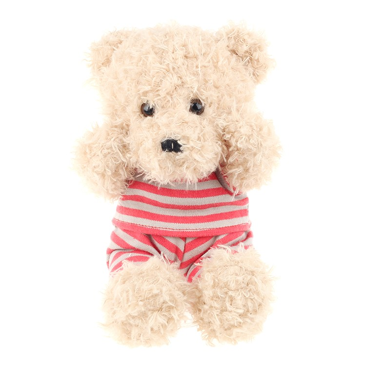 2017 new design patch teddy bear 100% polyester plush stuffed toy