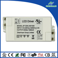Switching power supply 36W 24V 1.5A emergency led driver with CE UL