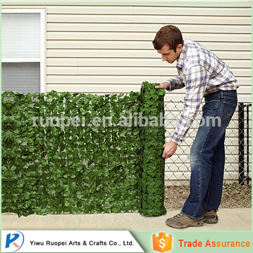 Manufacturer artificial ivy hedge fence fake outdoor decoration