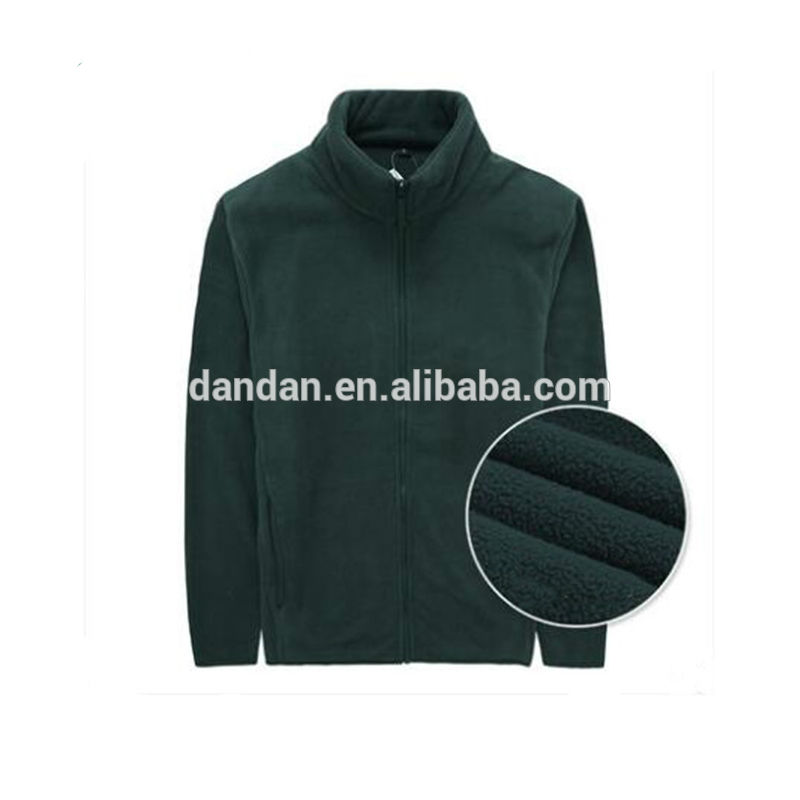 Wholesale zipper up warm cotton famous brand polar fleece jacket for men