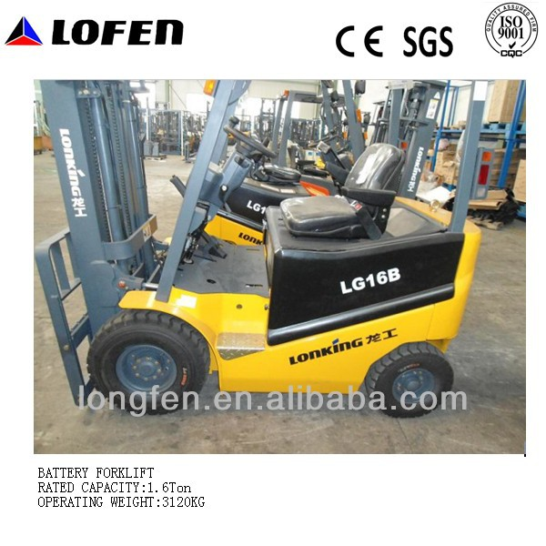 1.6T electric used forklift battery with CE/ISO/GOST