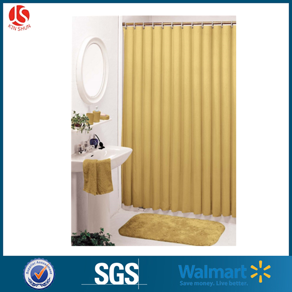 Custom PEVA Printed Hookless Fancy Shower Curtain