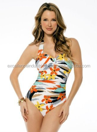 Hot Sale Beautiful Girl's Digital Print One Piece Tight Swimsuit, high quality sublimated one piece swimsuits swimwear