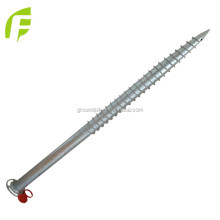 Good Quality Ground Anchor Screw Piles With Flange Nuts