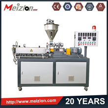 Mezilon MT-20 lab/small/mini twin screw plastic extruder/extrusion pelletizing/pelletizer/pellete/granule/granulator machine