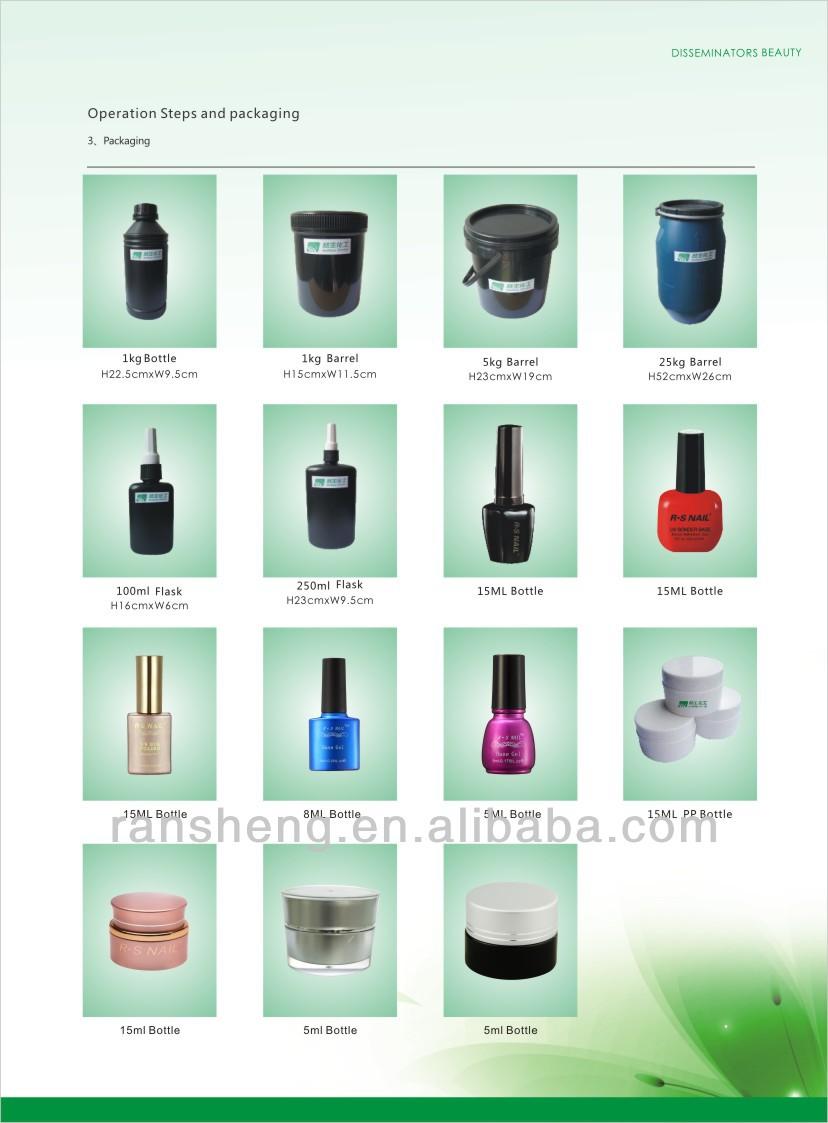 Ransheng el mejor diamante de color de uñas de gel uv-Gel UV ...