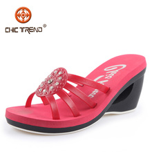2016 summer styles low wood heels pvc shoes crystal plastic jelly sandals cheap EVA sandals roman shoes melissa items