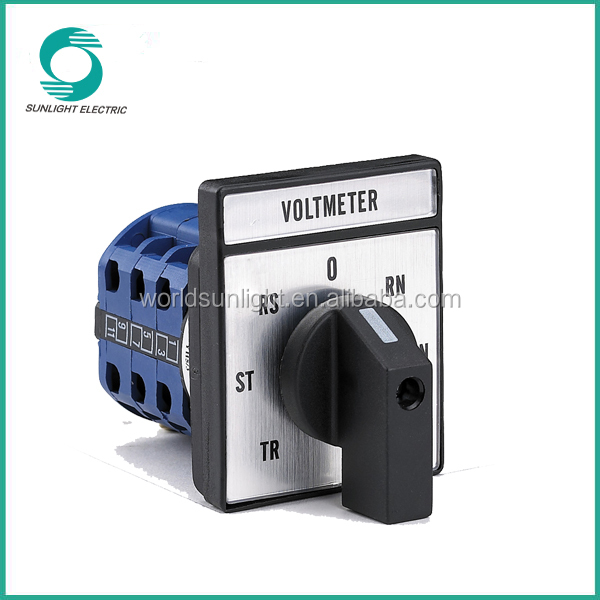 CE approval control of measurement equipment LW26 10A to 160A three-pole voltmeter selector switch
