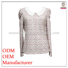 New Fashionable High Quality Comfortable cutwork blouse