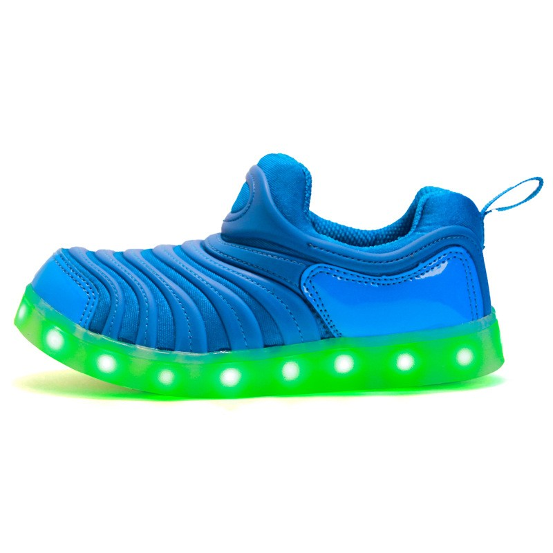 EK7007 USB rechargeable led light children sports shoes wholesale