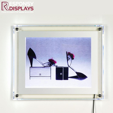 Modern hanging or customized clear acrylic display stand with poster picture