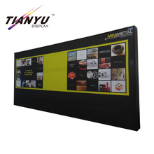 Card board Back Drop Photo Booth Aluminum Pop Up Stand with PVC Banner