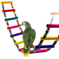 Colorful Bird Toy Ladder , Parrot Cage Ladder Parrot Toy