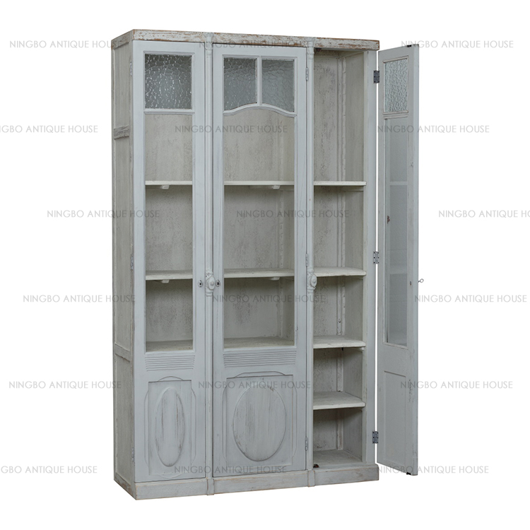 Antique furniture Solid wood small kitchen design cabinet