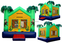 qiqu fun costomized new style printed giant inflatable castle,inflatable bouncer crocodil