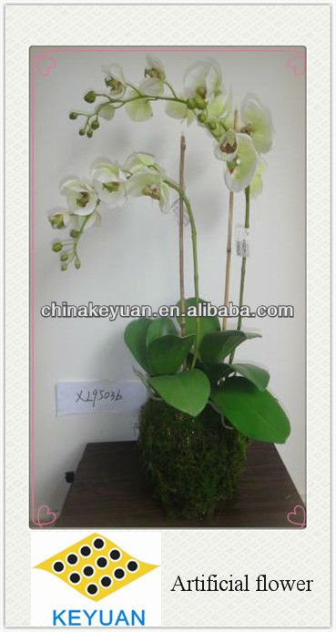 2013 new design artificial flowers orchid flower for wedding decorations