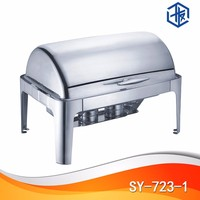 Oblong Chafing Dish Glass Food Warmer Electric Heater