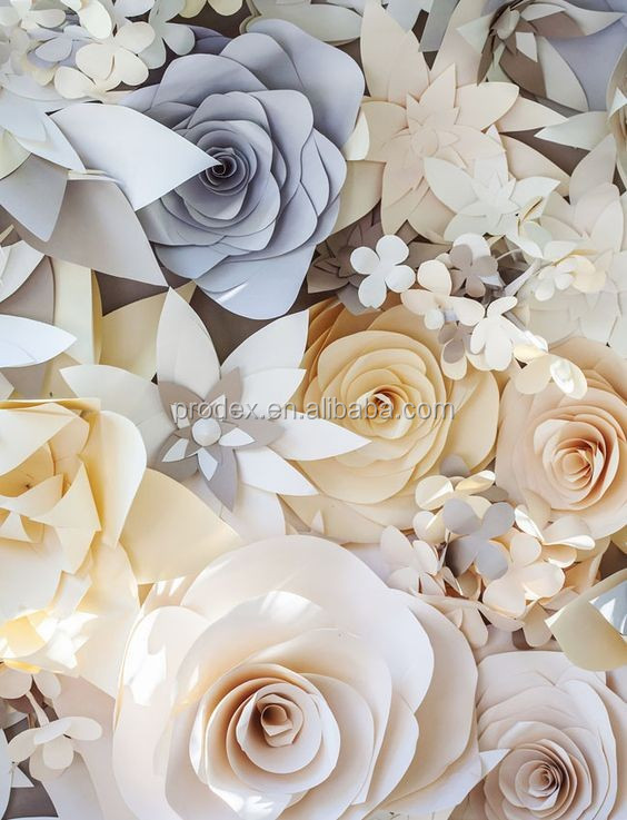 2018 hot selling Giant paper flowers wall wedding flowers