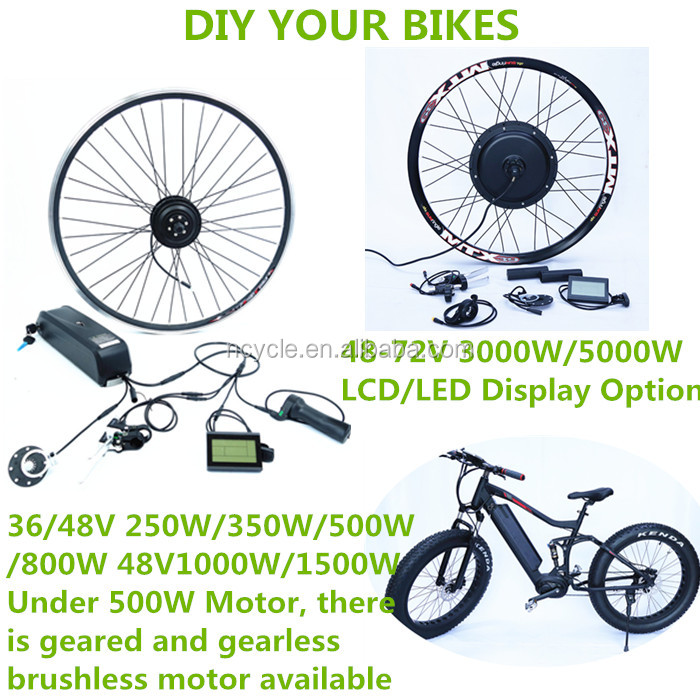 Popular 48v1000w Front Gearless Motor Electric Bike Kit