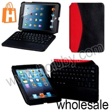 Removable Rechargeable Bluetooth 3.0 Keyboard+Leather Case for iPad Mini Retina iPad Mini