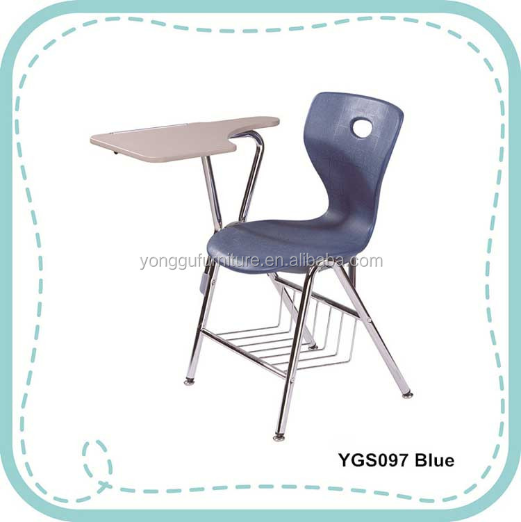 School Furniture Steel Frame Chair Writing Table Chair