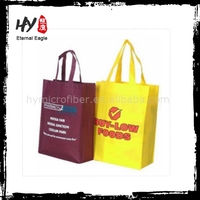 eco-friendly printed custom shopping bag, patch handle bags, heat press nonwoven shopping bag