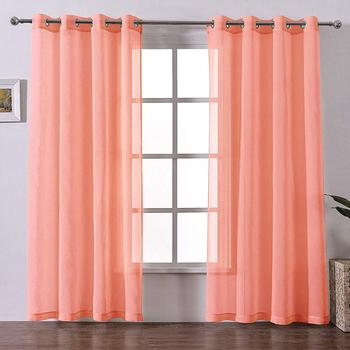 2019 Ready To Ship Window Treatment Bedroom Woven Dolly Voile Curtain Sheer