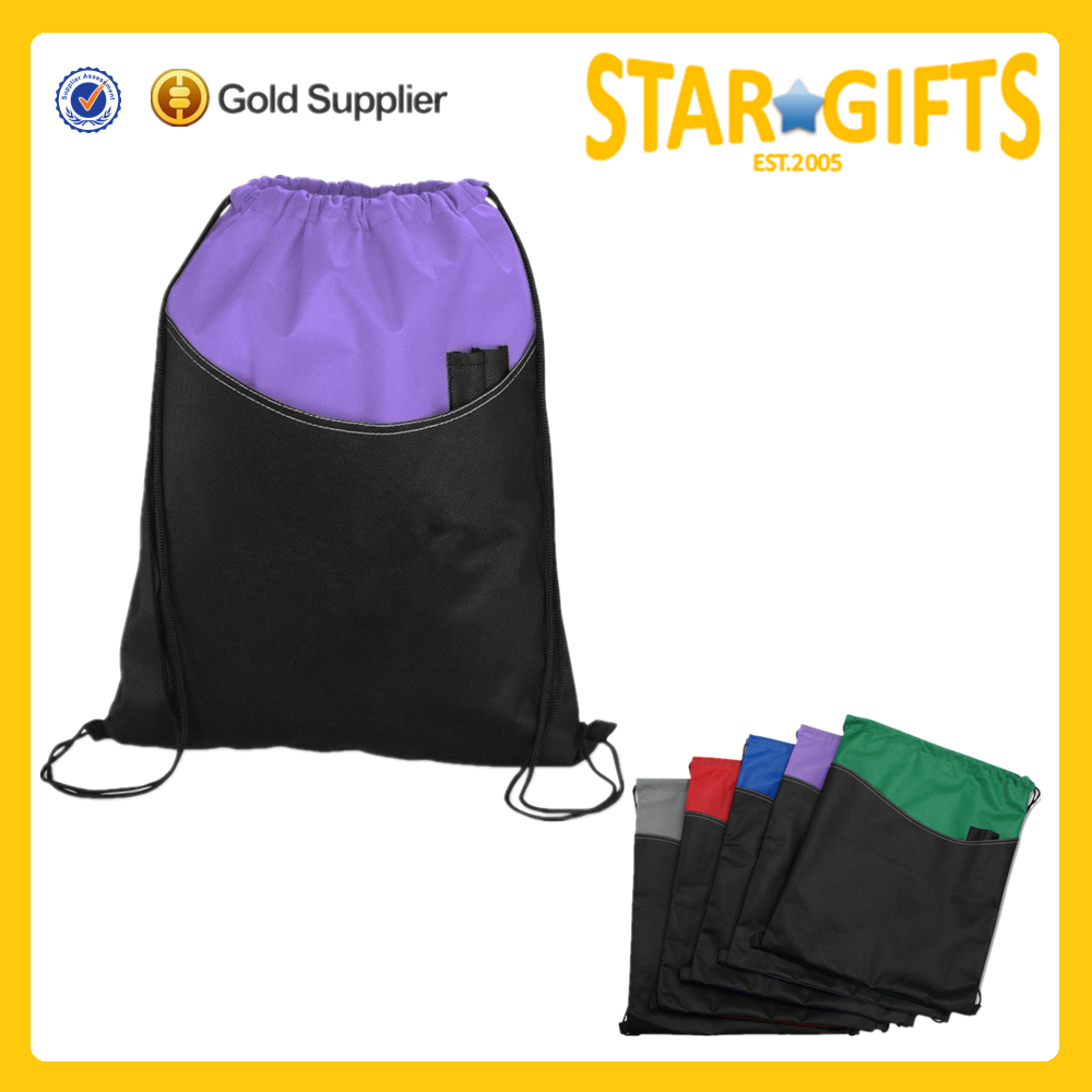 Low price customized dance school drawstring shoe bags