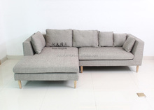 L Shaped Sofa 5316-wooden legs
