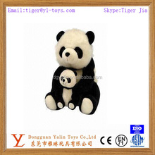 hight quality stuffed cute fat panda toy with a small baby for sale