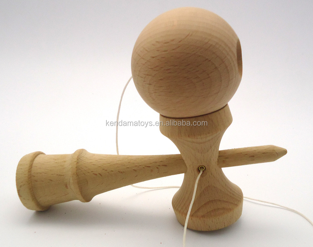 hot sales OEM beach wood Plain wood kendama, Regular size Kendama ball 18cm Outdoor toys Adult toys, plain wood kens