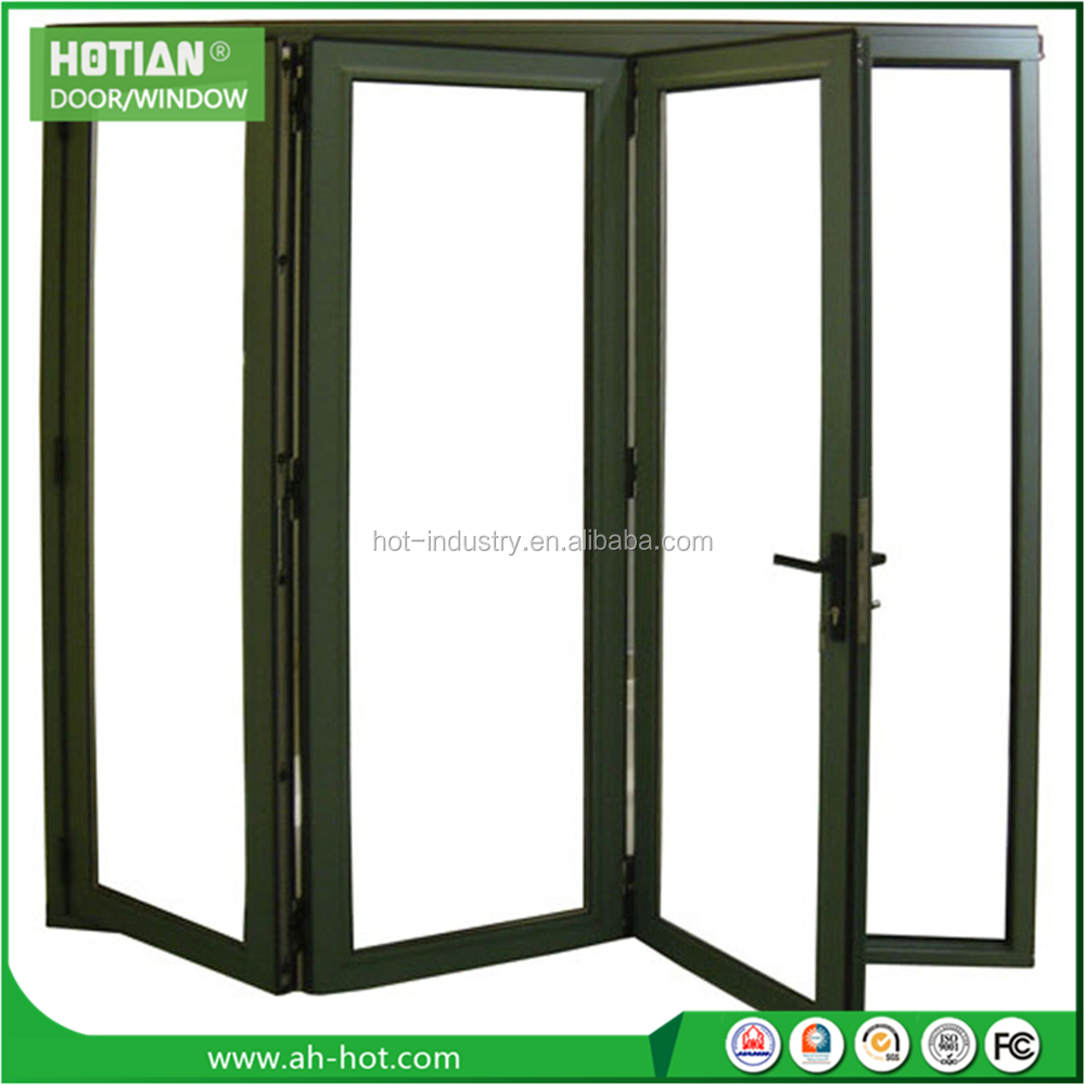 High Quality Balcony Fold Sliding Window With 4 Panels Can Customize Double Glazing Glass Panel Factory Direct Aluminum Window