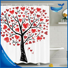 Wholesale Hotsale waterproof bath room printing colorful tree design curtain for shower curtain