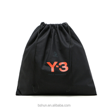 Black Cotton Drawstring Bag for Shoes, Cloth