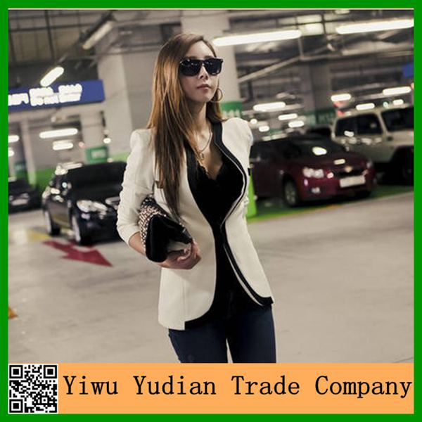 New Design Korean Slim Fit Casual Woman Suit