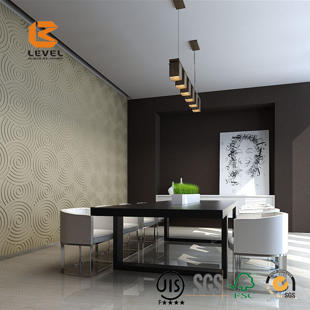 Room Interior MDF Wall Decoration Paneling UV Painting 3D Wall Panels