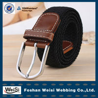 Manufacturer Supply Real Leather OEM Mens Braided Belt