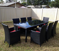 Factory! outdoor furniture wicker rattan dining set outdoor