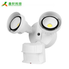 20W IP65 twin spot pir led motion sensor security flood light for outdoor carport warehouse