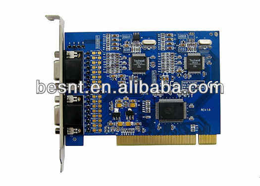 16 channel software dvr card h.264, 16ch cctv security DVR Card BS-H16S