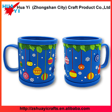Fancy Flower 3D PVC Rubber Mug Mugs for Kids, Soft PVC Rubber Mug Cup