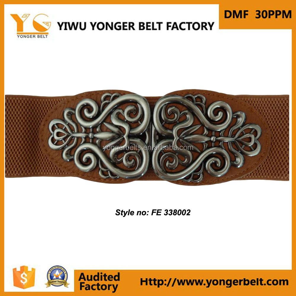 Fashion Elegant Lady Braided Elastic Stretch Belt Abdominal Belt