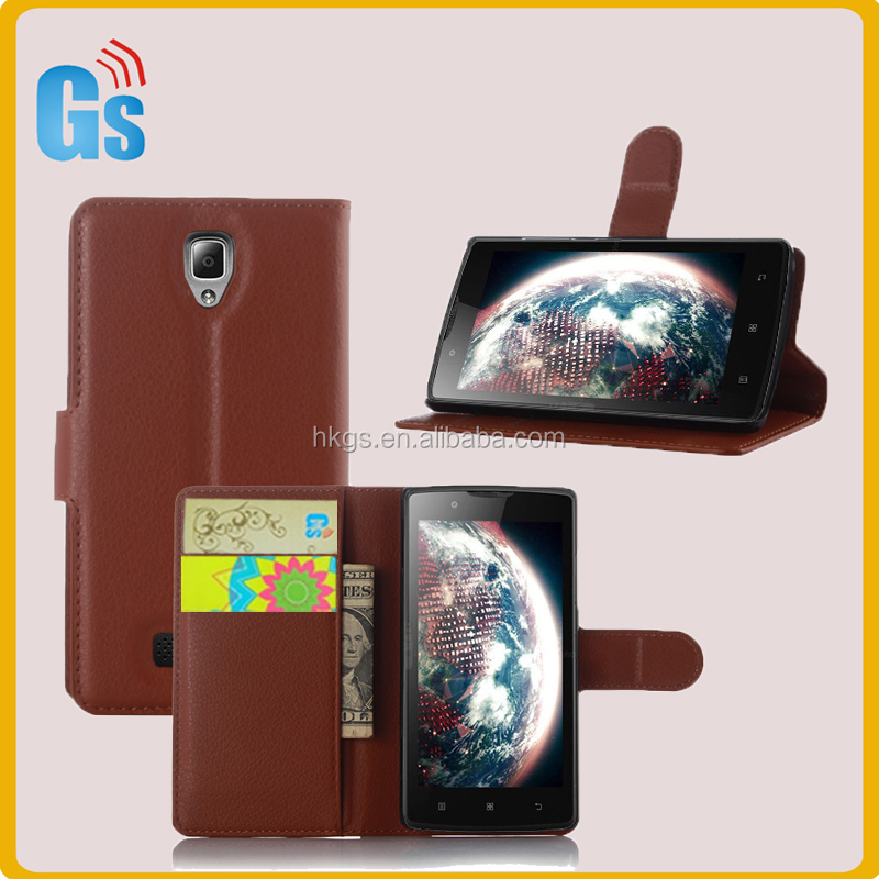 Protective Shell Wallet Flip Case For Lenovo A2010 Leather Cover