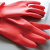 Useful Easy use Latex Large Flock Lined Black Household cleaning Dishwashing Latex gloves
