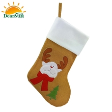 Factory direct selling christmas decoration stocking sock